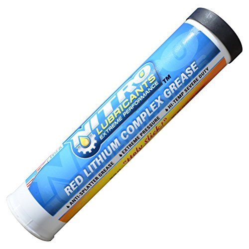 50 Pack - Nitro Lubricants Tacky Red Lithium Complex Grease - Grease Tubes for Grease Guns - 50 / 14 Ounce Tubes - Heavy Duty Automotive and Industrial Grease - Great For Marine Use by Nitro Lubricants