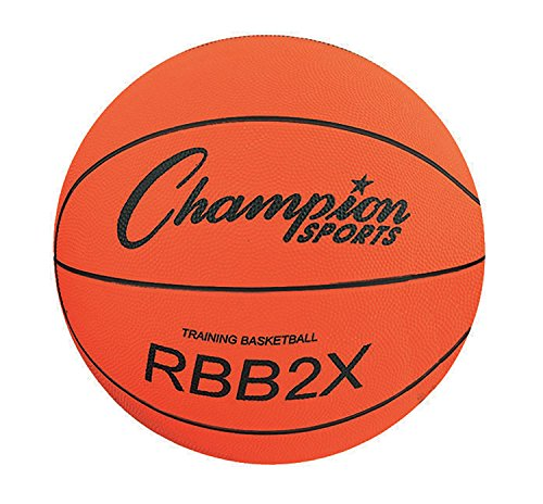 : Champion Sports Official Heavy Duty Rubber Cover Nylon Basketballs