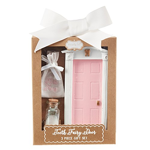 Mud Pie Tooth Fairy Door Gift Set Girl, Pink