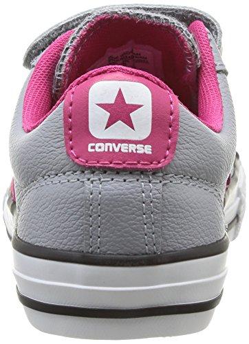 Converse Star Player Junior 3v Leather Ox - Zapatillas Unisex Niños Gris 012