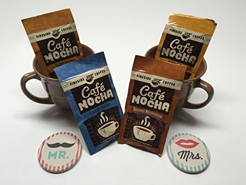 - Coffee Lovers Gift Bundle with Fireside Coffee, Mugs, and Car Coasters