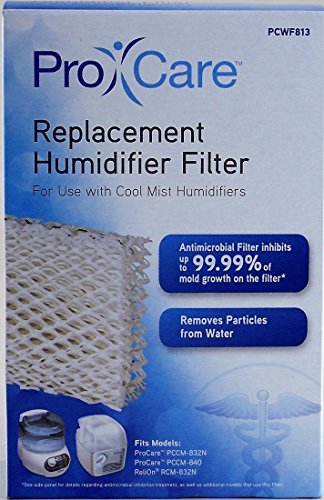 Pro Care Replacement Humidifier Filter PCWF813 For Use With Cool Mist Humidifiers Fits Models: ProCare PCCM-832N & Relion RCM-832N, Robitussin, Duracraft, Sesame Street & Many More (See List)