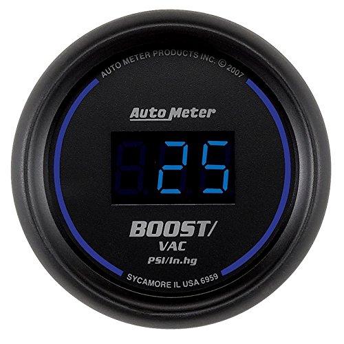 - Autometer Cobalt Digital 52.4mm Black Vacuum/Boost Gauge (am6959)