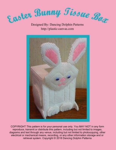 Box: Plastic Canvas Pattern (Tissue Bunny)