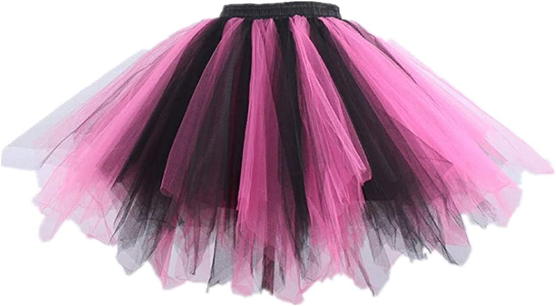 Women Rainbow 5 Tier Petticoat Tutu Skirt Ladies Fancy Gay Pride Hen Party Skirt
