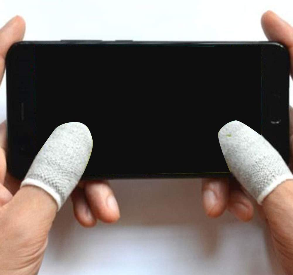 wei/ß Fefaxi Touch Screen Finger Sleeve Controller rutschfeste Handschuhe f/ür Handy-Spiel