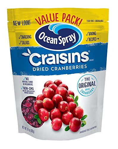 Ocean Spray Craisins Dried Cranberries, 24 Ounce (Cranberries Dried Sweetened)