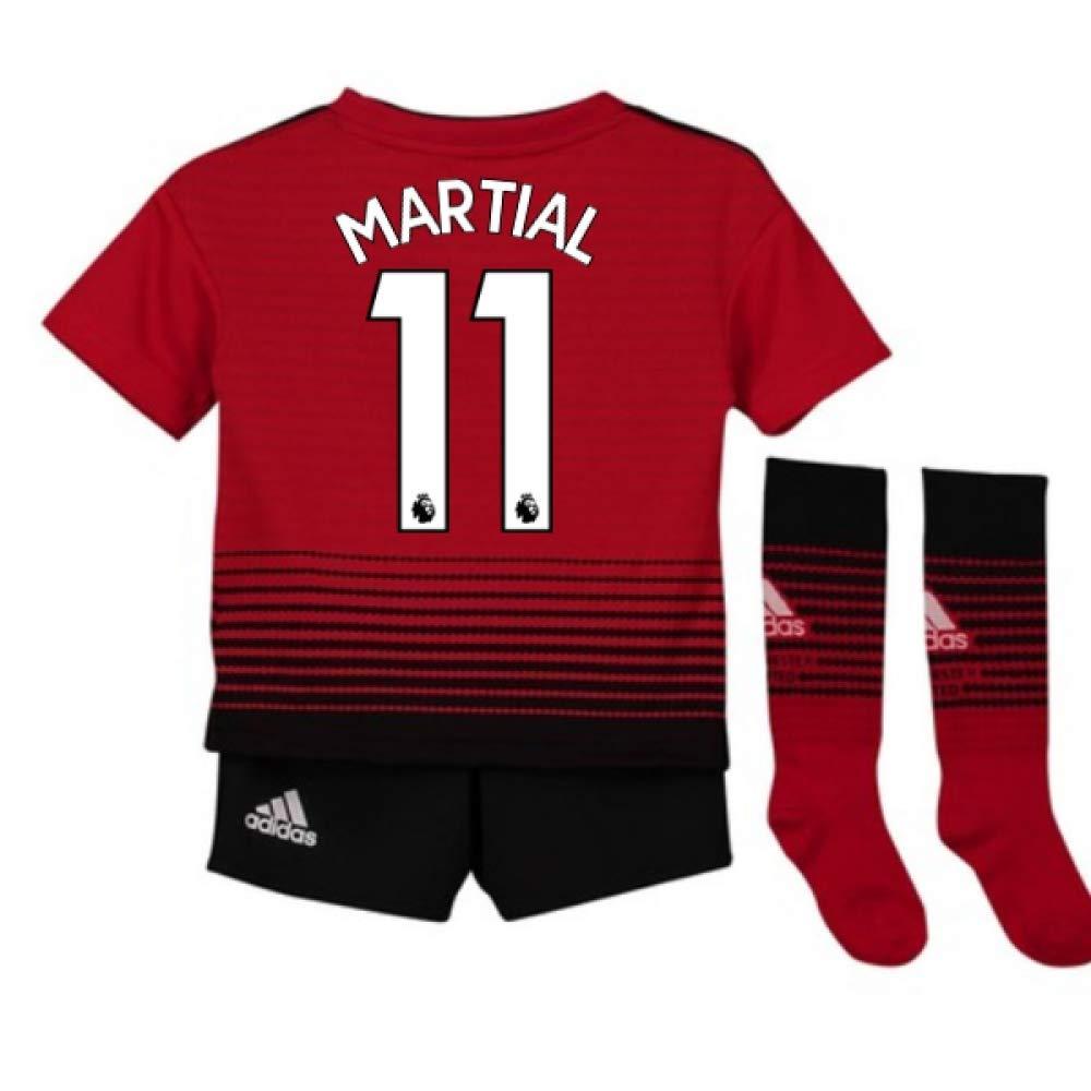 UKSoccershop 2018-2019 Man Utd Adidas Home Little Boys Mini Kit (Anthony Martial 11)