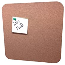 Cork Nature 11x11x.312-Inch, 890504 Functional Cork Board/Tile with Radiused Corners