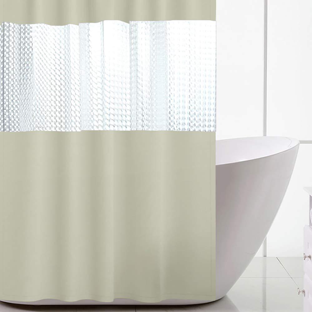 Impermeable, Resistente al Moho, Lavable, 180 x 200 cm, con 12 Ganchos Encozy Cortina de Ducha