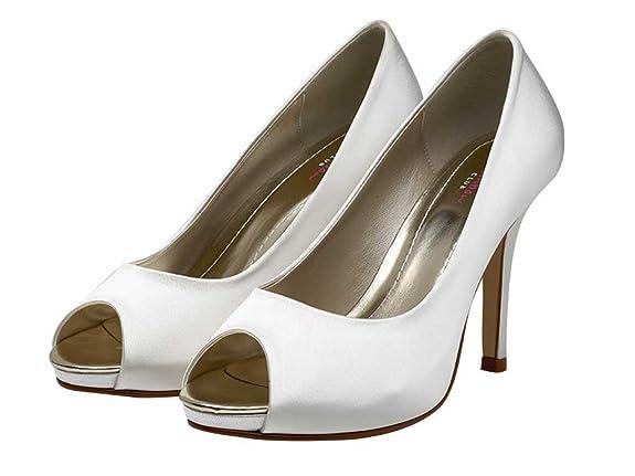 b92007c68ca5 Rainbow Club Wedding Shoes Jennifer Ivory or White Bridal Shoes   Amazon.co.uk  Shoes   Bags