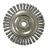 5'' Twisted Wire Wheel Brush, Arbor Hole Mounting, 0.020'' Wire Dia, 7/8'' Bristle Trim Length, 1 EA