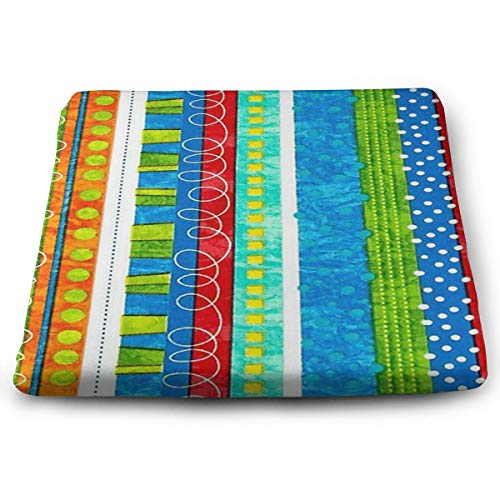 not Bug's Life Funky Stripe Four Seasons Gm Square Seat Cushion Suitable for Sedentary Relief