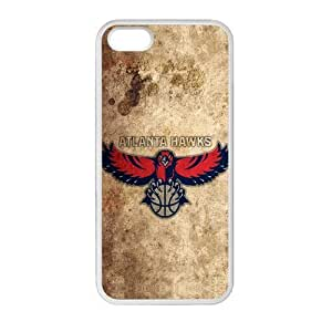 WXSTAR Fashion Atlanta Hawks Custom Case for iPhone 5,5S TPU (Laser Technology)