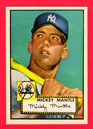 Mickey Mantle 1952 Topps Baseball Rookie Reprint Card Yankees