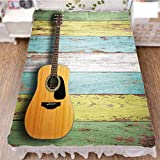 Bed Skirt Cover 3D Print,Colorful Painted Aged Wooden Planks Rustic Country,Best Modern Style Bed Skirt for Men and Women by 47.2''x78.7''