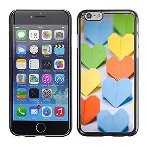 """For Apple Iphone 6 Plus / 6S Plus ( 5.5 ) , S-type Corazon de papel"""" - Arte & diseño plástico duro Fundas Cover Cubre Hard Case Cover"""