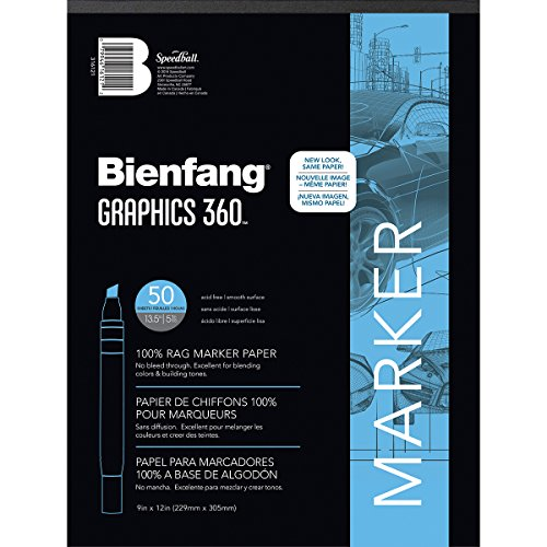 50sht Paper - Bienfang Graphics 9 by 12-Inch 360 Paper Pad, 50 Sheets
