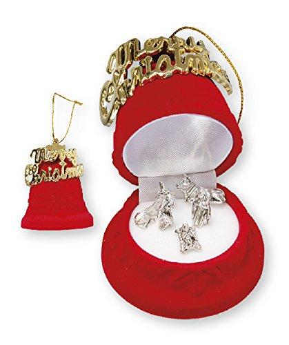 Loving Jesus Noël Crèche de Noël/Miniature 5Chiffres 2,5cm en Velours Église Bell Boîte de Cadeau de Cadeau de Noël. CBC