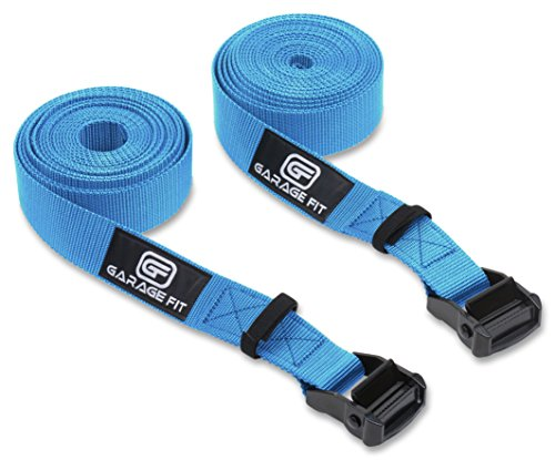 Garage Fit Premium Heavy Duty Replacement Gym Ring Straps - Cross Training, Gymnastics, Fitness, Exercise (Blue Straps Only)