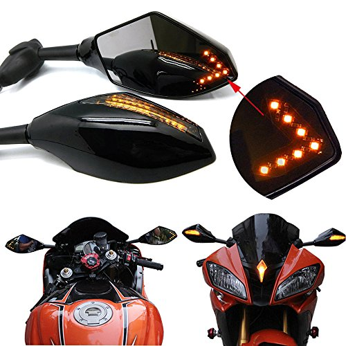 Motorcycle Turn Signal Mirrors - 6