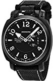 Anonimo Mens Military 43 MM Black Face Date Black Canvas/Leather Strap Swiss Mechanical Watch AM100002003A01