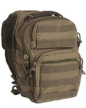 Mil-Tec Mochila One Strap Assault Pack SM, Color Verde, 30 x 22 x 13 cm: Amazon.es: Deportes y aire libre