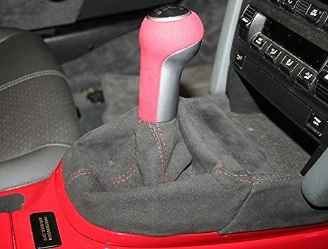 Black Alcantara-Blue Thread 993 1994-98 RedlineGoods Shift Boot Compatible with Porsche 911