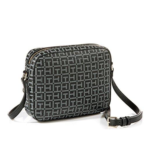 TOMMY HILFIGER Effortless Novelty Camera Bag Print Black / Logo