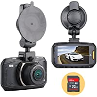 OldShark Ultra Full HD Car Dash Cam, 178 Degree Wide Angle Ambarella A7 Dashboard Camera Recorder Vehicle Black Box WDR Night Vision G-Sensor Parking Monitor Loop Recording, with 32G Memory Card