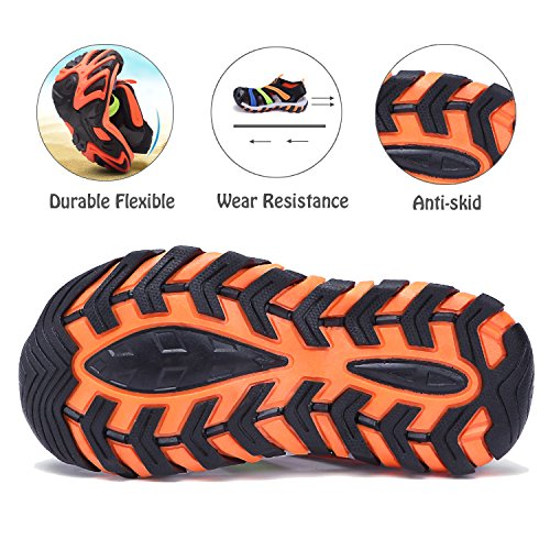 Pictures of BTDREAM Boy's and Girl's Sports Black Orange US Little Kid 1.5 5
