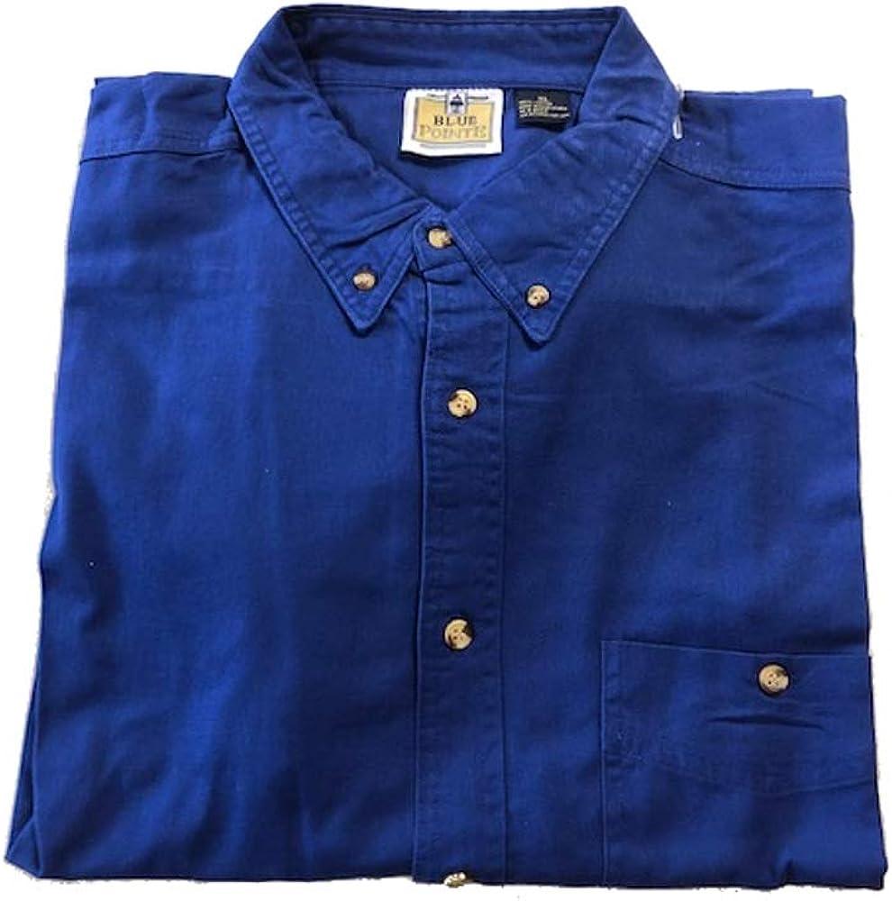 Blue Pointe Mens Twill Long Sleeve Button Down Shirt