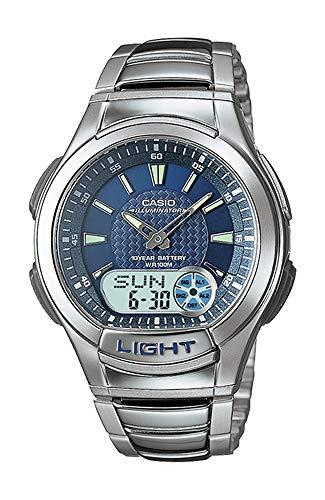 Casio AQ180WD-2AV Men's Illuminator Alarm Chronograph Analog Digital Databank Watch