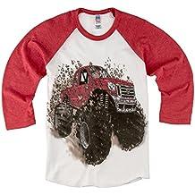 Shirts That Go Little Boys' Big Red Monster Truck Raglan T-Shirt