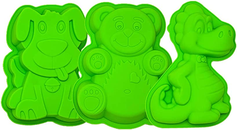 Chocolate Ice Cube Tray DIY Mold Pup Puppy Dog Silicone Cake Baking Mold Cake Pan 7.87 x 1.57 x 6.5 Inches Muffin Cups Handmade Soap Moulds Biscuit