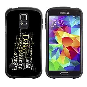 Paccase / Suave TPU GEL Caso Carcasa de Protección Funda para - Deep Message - Samsung Galaxy S5 SM-G900