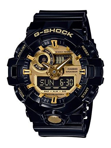 Casio Men's 'G SHOCK' Quartz Resin Casual Watch, Color:Black (Model: GA-710GB-1ACR)