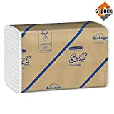 Scott 01510 C-Fold Towels, Absorbency Pockets, 10 1/8 x 13 3/20, White, 200 per Pack (Case of 12 Packs), 2 Pack (24 Count)