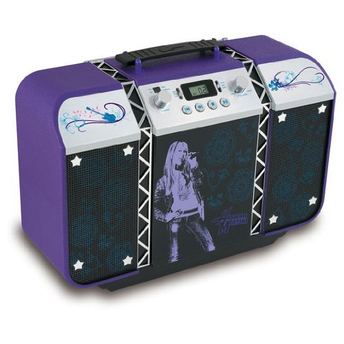 Disney Hannah Montana (Miley Stewart played by Miley Cyrus) CD BoomBox with AM/FM (Cyrus Cd Player)