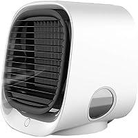 YSHTAN Air Cooling Fan Temperatuur Controle Luchtkoeler Draagbare Mini USB LED Stille Airco Luchtbevochtiger Koeler Anion Koeling Ventilator - Roze, Kleur: wit