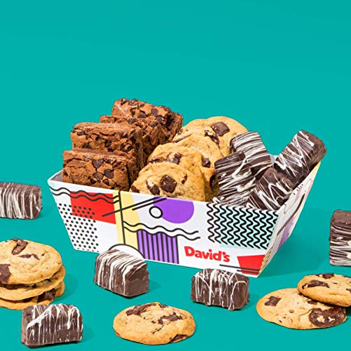 - Mother's Day Gourmet Cookies & Brownies Treat Box – Freshly Baked Goods In Signature Gift Basket – Includes Chocolate Chip Cookies, Brownie Bites & Dark Chocolate Brownies – Delicious Gift Idea