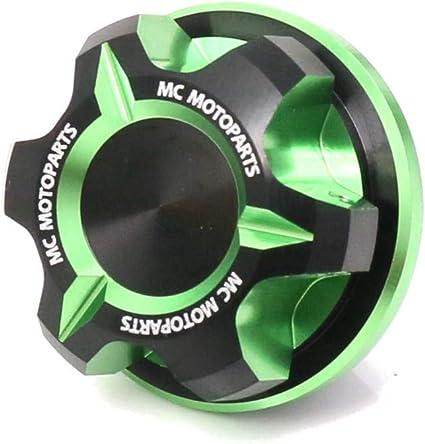 MC MOTOPARTS T-Axis Green CNC Oil Filler Cap For Kawasaki ER-6F Ninja 650R +ER-6N +Ninja 1000SX + KLE 650 + KLZ 1000