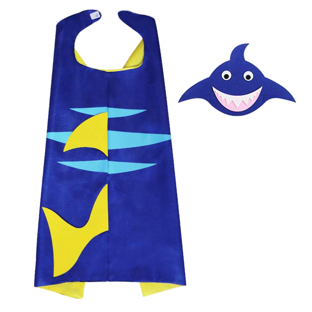 Shark Costume,Flying Childhood Fish Dress up for Little Girls Animal Cosplay Party with Felt Mask