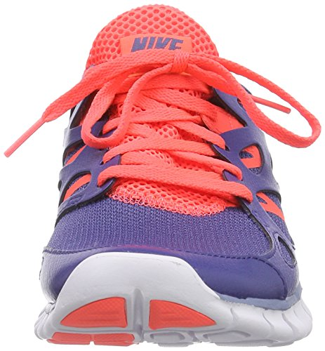 Nike Wmns Free Run 2 Ext, sneaker femme Blue Legend/Cool Blue-Hot Lava-White