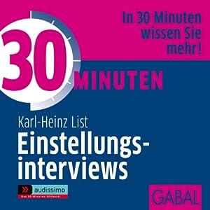 30 Minuten Einstellungsinterviews Hörbuch