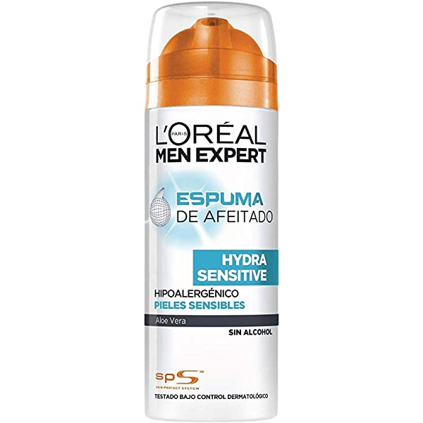 LOréal Paris Men Expert Hydra Sensitive Espuma de Afeitar para ...