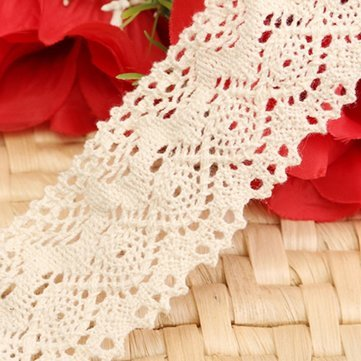 Cotton Crochet Applique Embroidered Net Lace Edge Trim Ribbon Sewing Craft^.