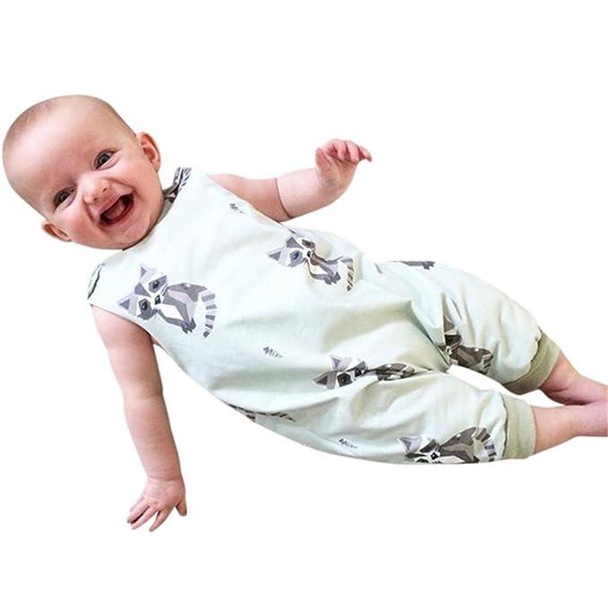 Niño Bebe Monos K-youth® Moda Ropa Bebe Niño Verano Ropa Bebe Recien Nacido  Bebé Niño Niña Gatos Estampado Mameluco Lindo Mono Escalada Ropa Bebé  Unisex ... 014bd3b8de1