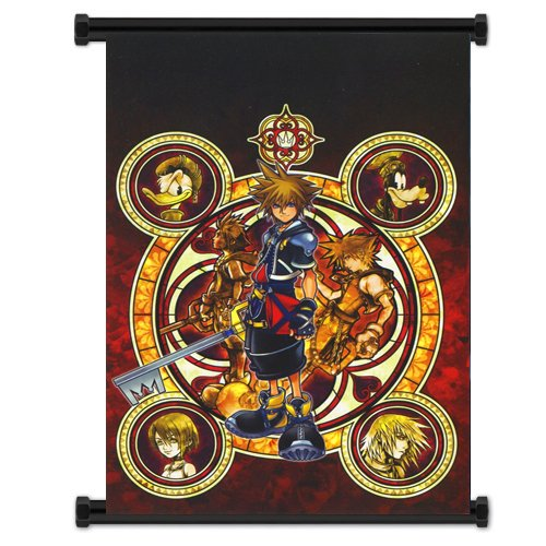 Scroll Heart - 1 X Kingdom Hearts Game Fabric Wall Scroll Poster (16