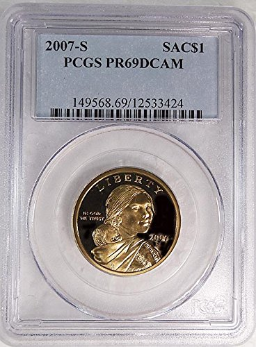 2007 S Sacagawea S Proof Blue Label Holder Dollar PR-69 PCGS DCAM